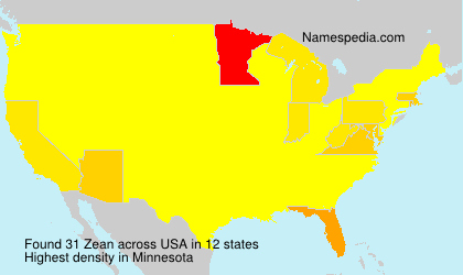 Surname Zean in USA