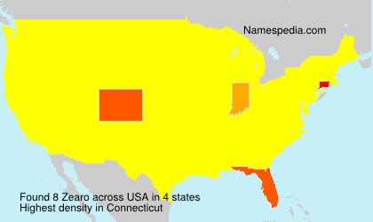 Surname Zearo in USA