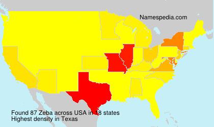 Surname Zeba in USA
