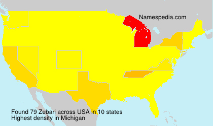 Surname Zebari in USA