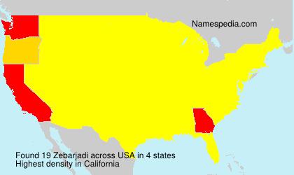 Surname Zebarjadi in USA