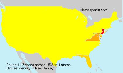 Surname Zebaze in USA