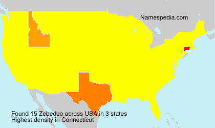 Surname Zebedeo in USA