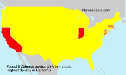 Surname Zebergs in USA