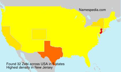 Surname Zebi in USA