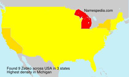 Surname Zebko in USA