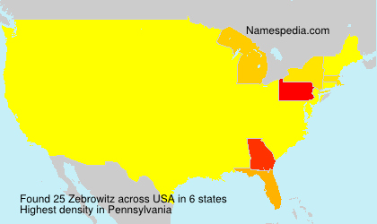 Surname Zebrowitz in USA