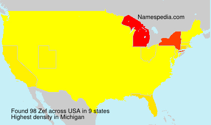 Surname Zef in USA