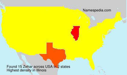 Surname Zehar in USA