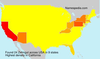 Familiennamen Zehngut - USA