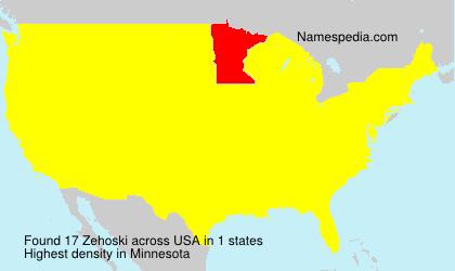 Surname Zehoski in USA
