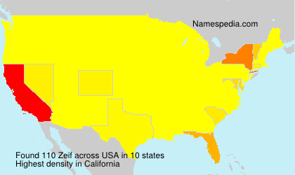 Surname Zeif in USA