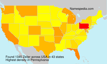 Surname Zeiler in USA