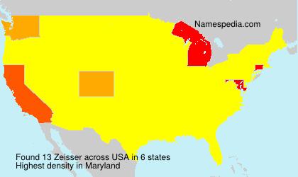 Surname Zeisser in USA