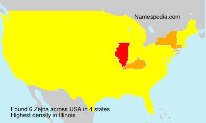 Surname Zejna in USA