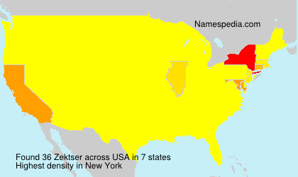 Surname Zektser in USA