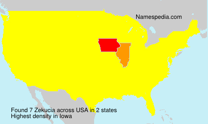 Surname Zekucia in USA