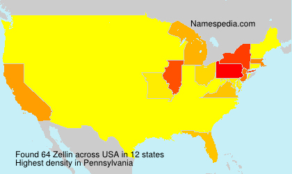 Surname Zellin in USA