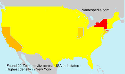 Surname Zelmanovitz in USA