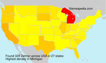 Surname Zelmer in USA