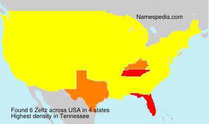 Familiennamen Zeltz - USA