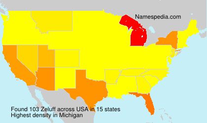 Surname Zeluff in USA