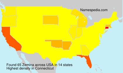 Familiennamen Zemina - USA
