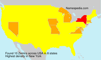 Surname Zemira in USA
