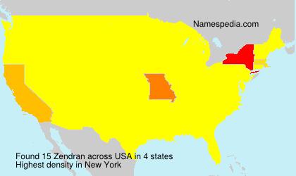 Surname Zendran in USA