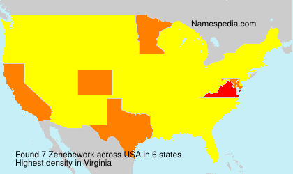 Surname Zenebework in USA