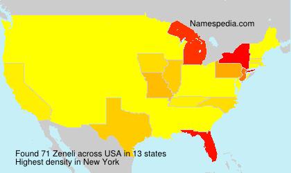 Surname Zeneli in USA