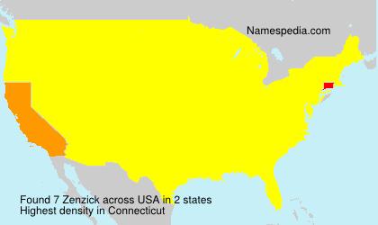 Surname Zenzick in USA