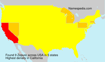Surname Zepure in USA