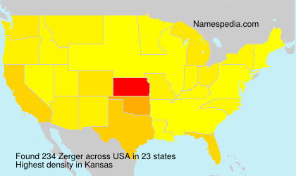 Surname Zerger in USA