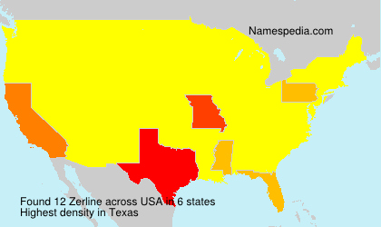 Surname Zerline in USA