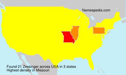 Surname Zessinger in USA