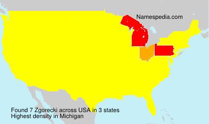 Surname Zgorecki in USA
