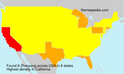 Surname Zhaoyang in USA