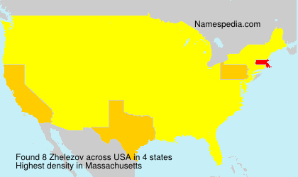Surname Zhelezov in USA