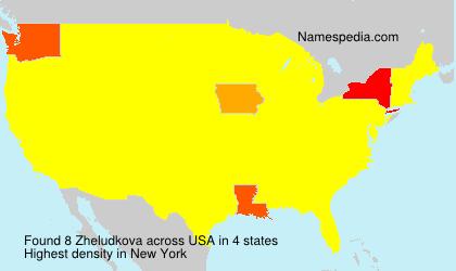 Familiennamen Zheludkova - USA