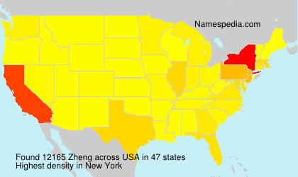 Surname Zheng in USA