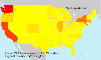 Surname Zhuk in USA