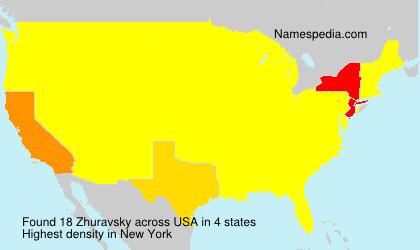 Familiennamen Zhuravsky - USA