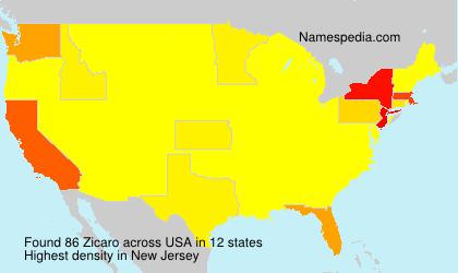 Familiennamen Zicaro - USA