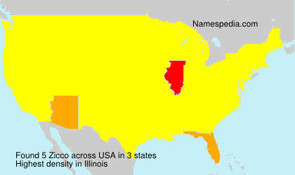 Surname Zicco in USA