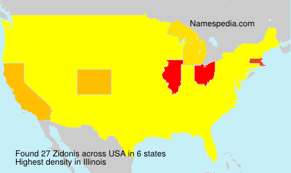 Surname Zidonis in USA