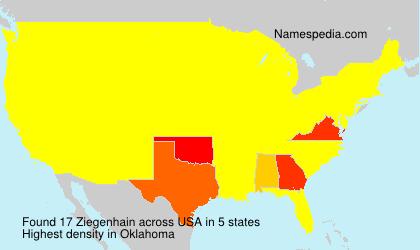 Surname Ziegenhain in USA