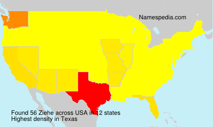 Surname Ziehe in USA