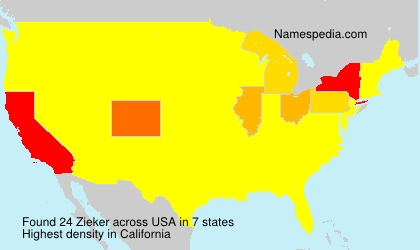Surname Zieker in USA