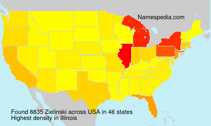 Surname Zielinski in USA